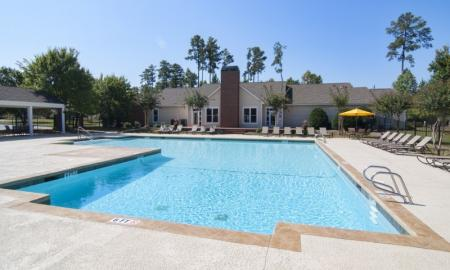 Floating in the Pool | Apartments For Rent McDonough GA | Amber Chase