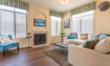 Luxurious Living Room | Chandler Luxury Apartments | The Ventura