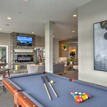 Residents Playing Pool | Columbus Apartments | The Attleigh