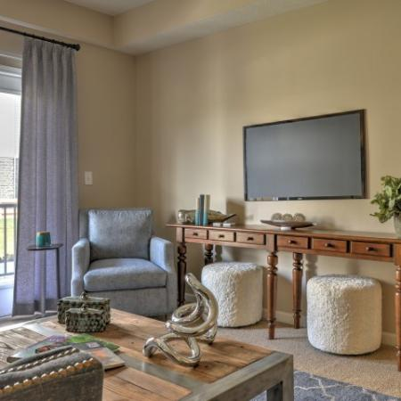 Luxurious Living Room | Columbus Apartments | The Attleigh