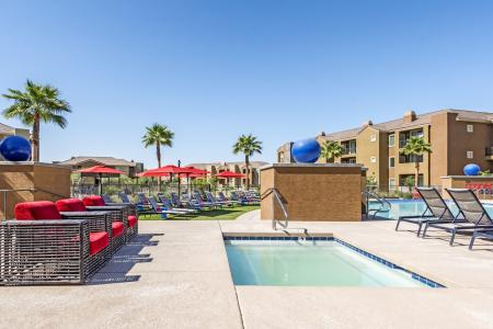 Resident Hot Tub | Apartments in Chandler | The Cooper 202