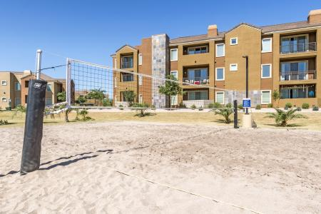 Sand Volleyball Court | Chandler Apartments | The Cooper 202
