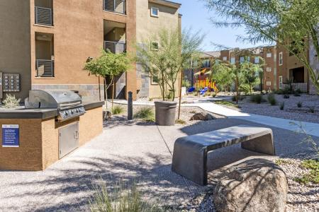 Community BBQ Grills | Apartment Homes In Chandler | The Cooper 202