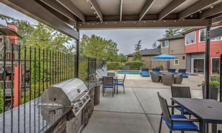 Community BBQ Grills | Renton Apartments | Montclair Heights