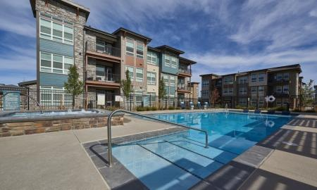 Lounging by the Pool | Thornton Apartments | Parkhouse