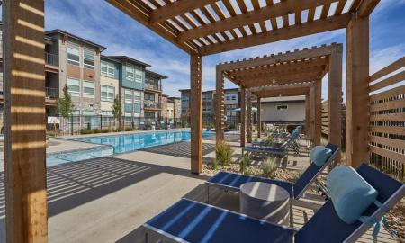 Lounging by the Pool | Thornton Apartments | Parkhouse 4