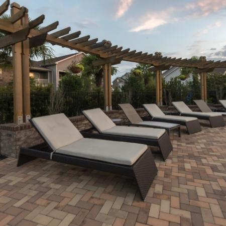 Resident Sun Deck   Apartments In Prattville   Meadows at HomePlace
