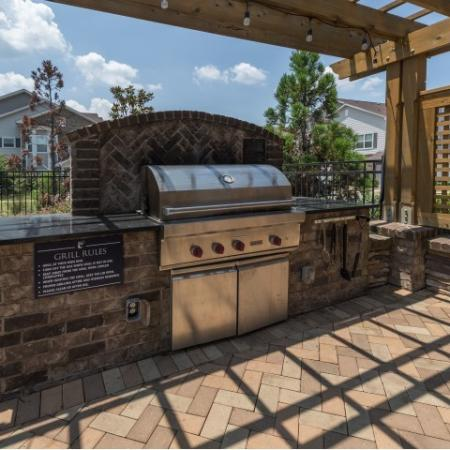 Resident BBQ   Luxury Apartments In Prattville Alabama   Meadows at HomePlace