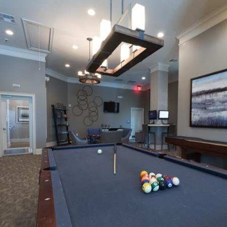 Resident Billiards Table   Apartments In Prattville   Meadows at HomePlace
