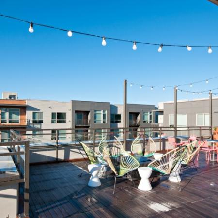 Residents Tanning on the Sun Deck | Bellevue WA Apartments | LIV
