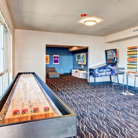 Residents Playing Pool | Bellevue WA Apartments | LIV