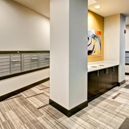 Resident Mail Room | Bellevue Apartments | LIV