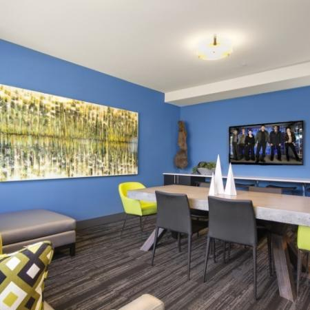 Residents Relaxing in Club Room | Bellevue Washington Apartments | LIV