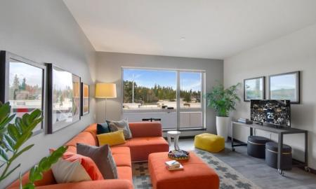 Luxurious Living Room | Bellevue WA Apartments | LIV