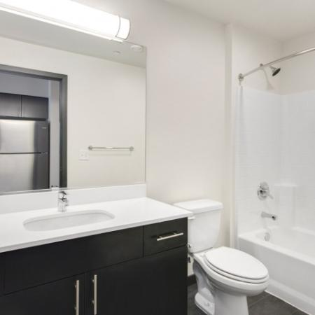 Residents in the Bathroom | Bellevue WA Apartments | LIV