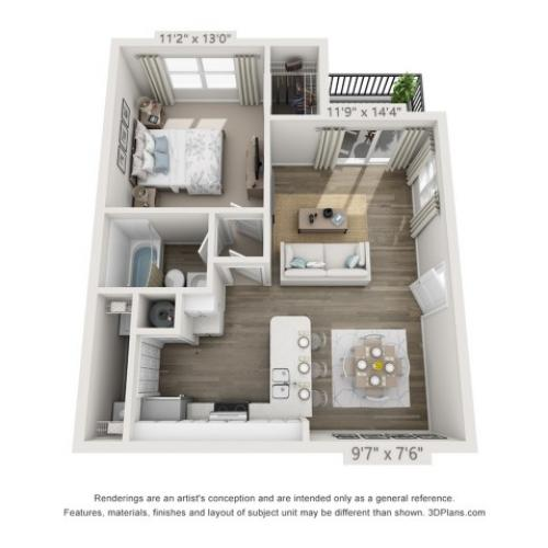 Floor Plan 2 | Apartments Boynton Beach | Ashley Lake Park