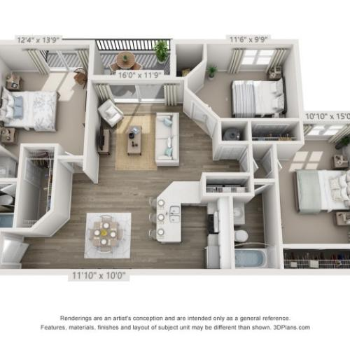 Floor Plan 6 | Boynton Beach Apartments | Ashley Lake Park