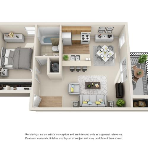 1 Bedroom Floor Plan | Park Place on 92nd
