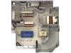 a4 floor plan at The Legends of Willow Creek in Folsom, CA