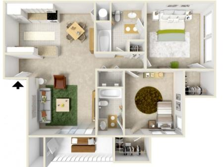 Courtyard - Two Bedroom
