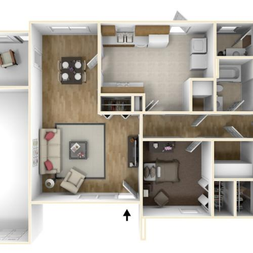 Laurel Bay Albert 3D Floor Plan