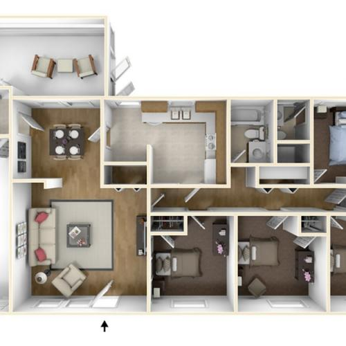 Laurel Bay Mullens 3D Floor Plan