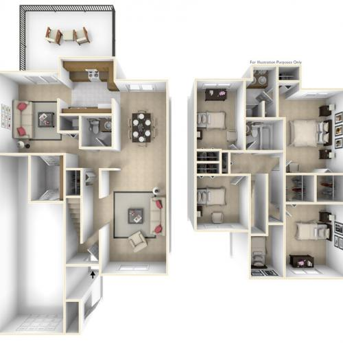 Grant\'s Landing Edwards 3D Floor Plan