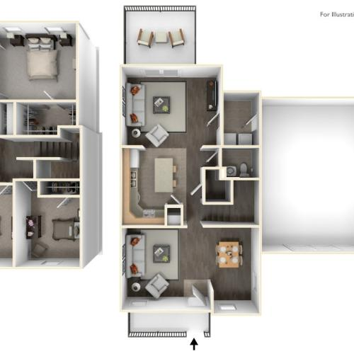 Stewart Terrace Murphy 3D Floor Plan