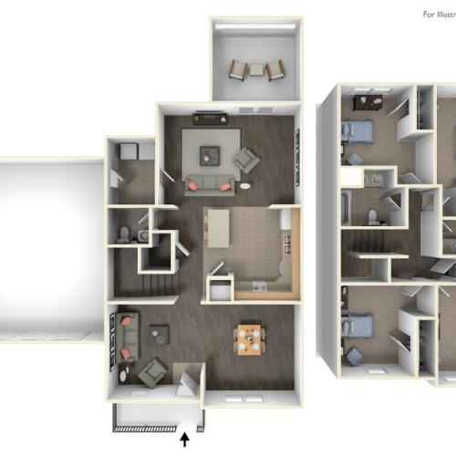 Stewart Terrace Paige 3D Floor Plan