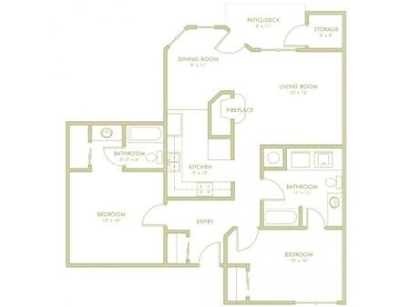 2 Bed Split - Large