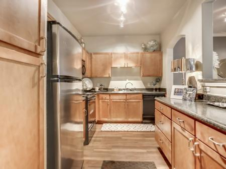 Black and Stainless steel appliances | Apartments near TCU and Downtown Fort Worth