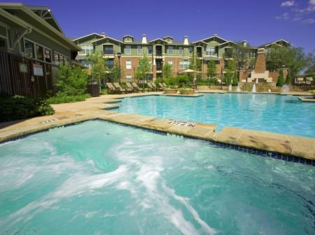 The Berkeley Luxury Apartments Pool and Wading Pool areas