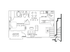One Bed/ One Bath with bedroom extension/ attached garage 869 sq. ft.