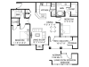 Two Bed/ Two Bath with sun room 1184 sq. ft.