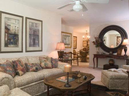 Large living rooms -Twin Oaks Apartments