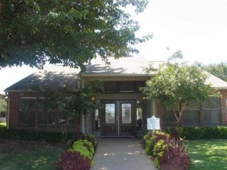 Entrance to Woodcrest's Leasing Office