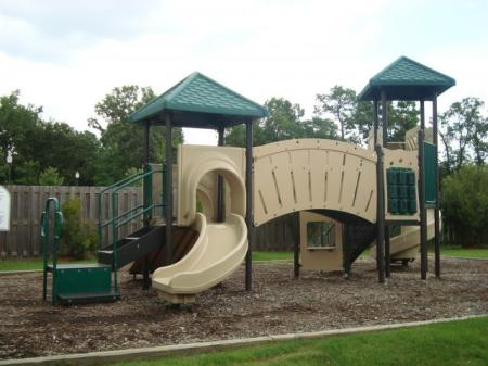 Playground for little kids, complete with a slide