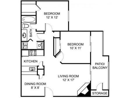 2 Bedroom 1 Bath
