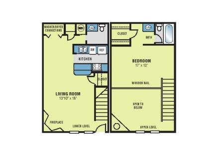 One Bedroom Town House