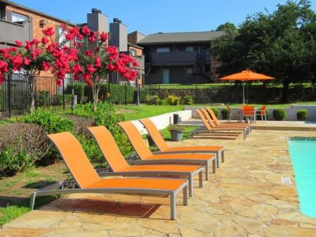 Lounge Chairs on the Pool Deck