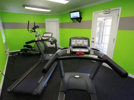 Jog on the treadmill in the fitness center