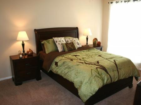 Spacious bedrooms with large windows