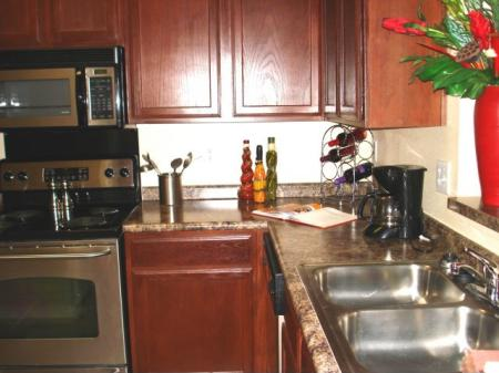 Gourmet kitchen with stainless appliances