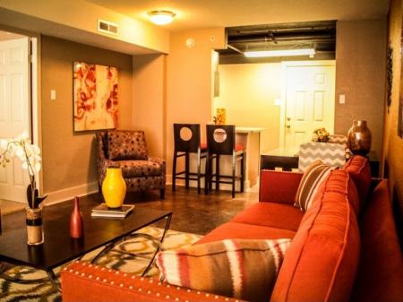 The Capitol on 28th apartments lounge area