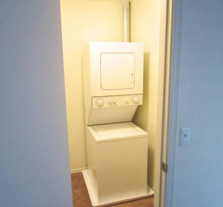 Optional stackable washer and dryer