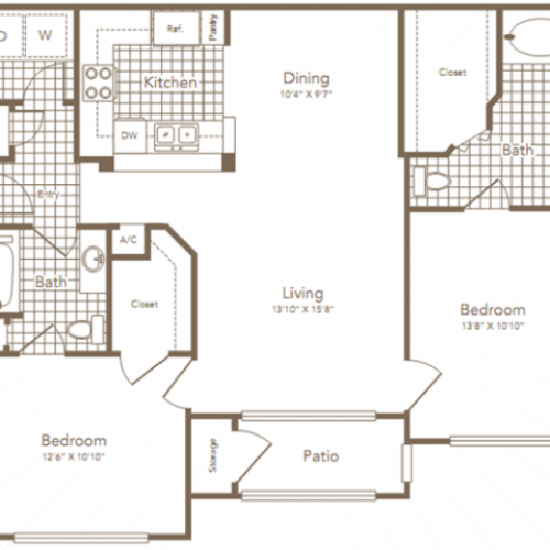 Two Bedroom | Two Bathroom