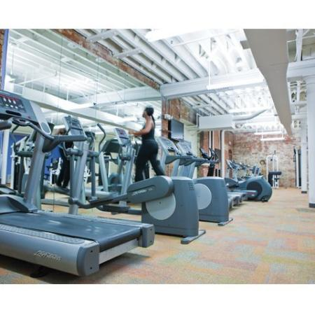 Utilize our fitness center as a resident of our Richmond rentals at Cameron Kinney