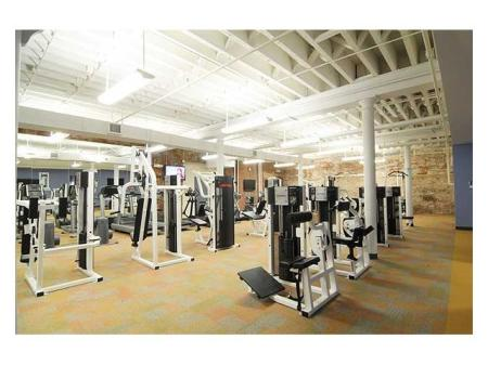Another view of our state-of-the-art fitness center at Cameron Kinney apartments for rent in Richmond