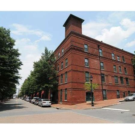 Exterior view of our historic apartments for rent in Richmond VA at Cameron Kinney