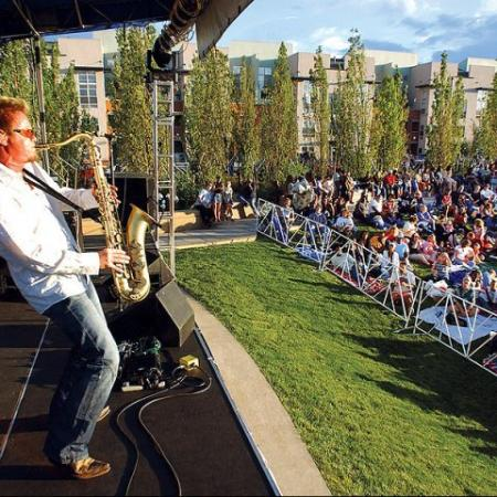 Catch a summer concert outside our Denver apartments for rent at Botanica Town Center